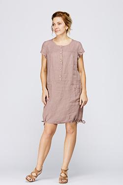 Блузки платья из льна